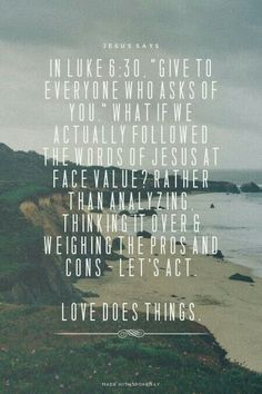 Love for things