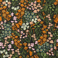 Flower Aesthetic, Painting Patterns, Metal Wall Art, Flower Patterns, Canvas Art Prints, Art Inspo, Planting Flowers, Vibrant Colors, Floral Prints