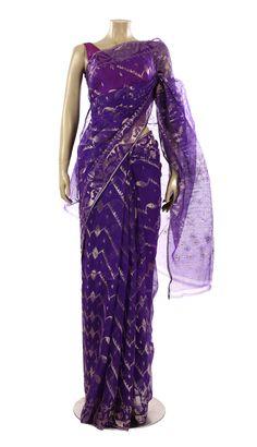 Midnight Blue Zari Half-Silk Jamdani Saree - Saree - Women Jamdani Saree, Georgette Sarees, Strapless Dress Formal, Formal Dresses, Midnight Blue, Silk, Women, Fashion, Dresses For Formal