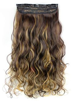 TideBuy - TideBuy 4H/27 Long Wave Synthetic One Piece Clip In Hair Extension 24 Inches - AdoreWe.com