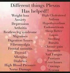 The list of benefits never ceases to amaze me! KCSmith.myplexusproducts.com #335588