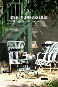 How to Style an Outdoor Space: The Lounge Area #theeverygirl