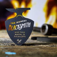 We had to show off these Premium Black Business Cards created for a blacksmith, showing the impressive results of laser cutting.