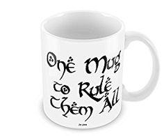 Geek Details White One Mug to Rule Them All Coffee Mug, 11 Oz, White