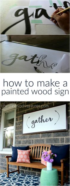 DIY Large Wood Sign