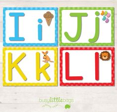 Alphabet Flash Cards Bright AUTOMATIC by BUSYLITTLEBUGSshop