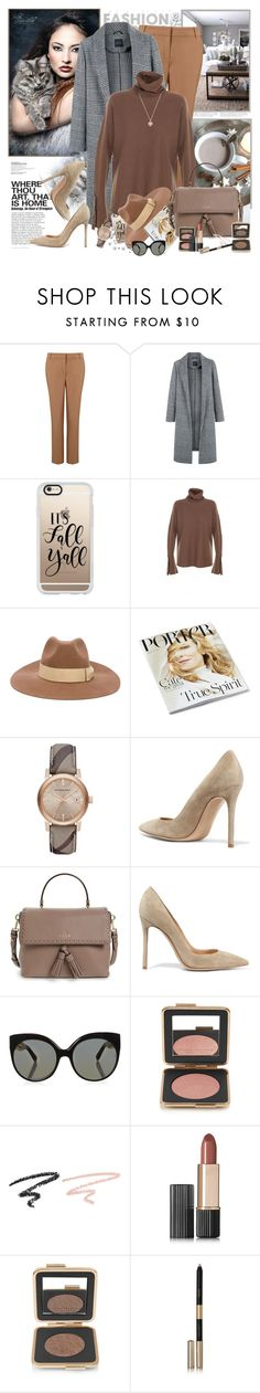 """Gray & Camel"" by gomila-anne ❤ liked on Polyvore featuring Marella, Casetify, PS Paul Smith, Burberry, Gianvito Rossi, Kate Spade, Linda Farrow, Estée Lauder and Michael Kors"