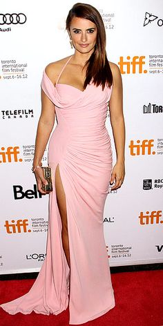 "Penélope Cruz in Gianni Versace for the premiere of ""Twice Born"" (2012 Toronto International Film Festival)"
