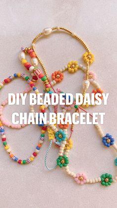 Handmade Wire Jewelry, Diy Crafts Jewelry, Bracelet Crafts, Diy Jewelry With Beads, Seed Bead Jewelry Tutorials, Beaded Jewelry Designs, Beaded Crafts, Crystal Jewelry, Diy Bracelets Easy