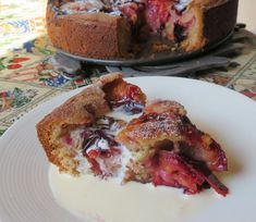 The English Kitchen: Spiced Plum Cake Plum Torte, Plum Cake, Recipe Generator, English Kitchens, Pudding Desserts, Sweet Bread, Let Them Eat Cake, Beautiful Cakes, Food Photo