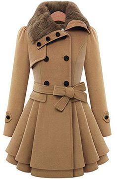 VIISHOW Women's Fashion Faux Fur Lape…