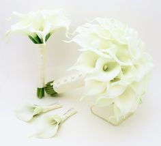 Ready to Ship Real Touch Calla Lily Bridal by SongsFromTheGarden