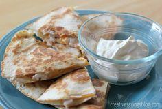 Cheesy Turkey and Ranch Quesadillas | Creative Savings