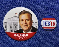 Jeb Bush for President 2016 TWO Buttons Pins Republican GOP All Presidents, Republican Gop, Presidential History, Running For President, Historical Photos, Campaign, Politics, Buttons, Historical Pictures