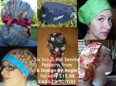 Six Pack Surgical Scrub Hat Sewing Patterns