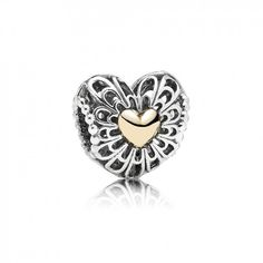 #Ctk804 Pandora Openwork Vintage Heart Bead 791275 Outlet Sale