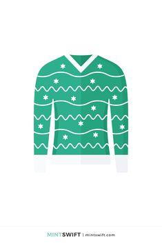 Red Christmas Jumper, Christmas Jumpers, Green Christmas, Flat Design Illustration, Digital Illustration, Web Design Packages, Brand Icon, Graphic Design Tutorials, Vector Illustrations