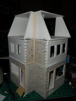 done with foamboard  Les Shoppes Dollhouse Project: WIP 9 by kayanah