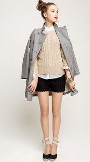 love the shorts. adorable ensemble - J. Crew fisherman's sweater