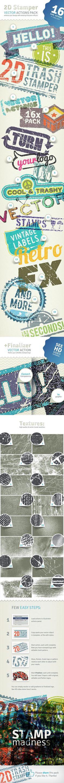 2D Trash Stamper - Vector Actions Pack for $4 - GraphicRiver #illustrator #AdobeIllustrator #GraphicDesign #vector #BestDesignResources