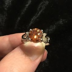 Champagne CZ .925 Sterling silver ring Size 7 Beautiful champagne colored CZ .925 Sterling silver ring Jewelry Rings