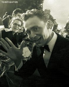He is laughing at the end because he knows what he just did to my heart, damn it Hiddles! | gif | Tom Hiddleston