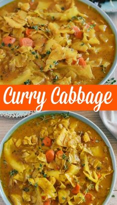 This quick and easy Curry Cabbage will be a sure hit! It is not only healthy but astonishingly full of flavor and easy to prepare. Curry Recipes, Vegetable Recipes, Soup Recipes, Great Recipes, Vegetarian Recipes, Dinner Recipes, Cooking Recipes, Healthy Recipes, Icing Recipes