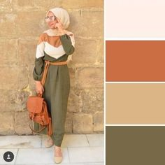 Hijab outfits in neutrals – Just Trendy Girls Colour Combinations Fashion, Color Combinations For Clothes, Color Combos, Hijab Outfit, Hijab Dress, Modest Dresses, Modest Outfits, Classy Outfits, Casual Outfits