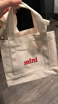 Mini Canvas Bag - Beauty and Fashion and Maternity and Dogs and Phones and Phone Cases and Baby Tings - 2019 Trends Textiles Y Moda, Style Année 90, Aesthetic Bags, Sacs Design, Diy Vetement, Diaper Bag Backpack, Diaper Bags, Accesorios Casual, Mini Canvas