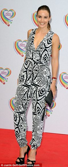 Charlie Webster looking stunning in Bernshaw 'Zelda' trouser suit at The Health Lottery Tea Party - The Savoy Hotel, 2 June 2014