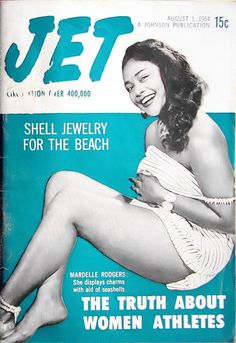 Mardelle Rodgers Models Shell Jewelry - Jet Magazine August 5, 1954