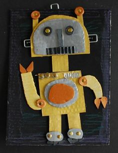 "From exhibit ""Cardboard Robots"",  from Alum Creek Elementary School"