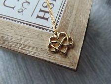 18K Gold Chain Necklace Infinity Love Heart Pendant Lover Jewellery Poly Symbol  in Jewellery & Watches, Costume Jewellery, Necklaces & Pendants | eBay