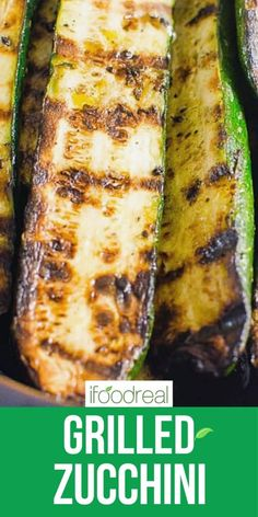This easy Grilled Zucchini recipe requires just 5 ingredients (salt, pepper, and oil included!) and 20 minutes - for simple garlicky, lightly charred zucchini that can be made year-round. It's the perfect side dish for potlucks, BBQs, and grill season! Zucchini Dinner Recipes, Grilled Zucchini Recipes, Potluck Recipes, Veggie Recipes, Vegetarian Recipes, Grilled Pizza, Veggie Food, Grilled Food, Healthy Vegetables