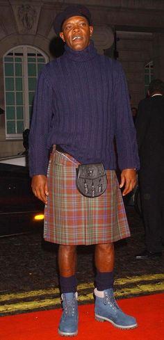14 famosos que usaron faldas escocesas sin una razón lógica para hacerlo
