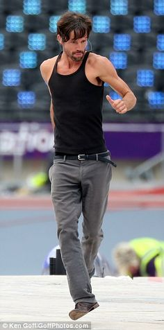 The gorgeous Jason Orange of Take That rehearsing at the Olympic Stadium, August 12th 2012
