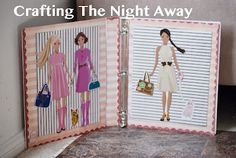 Crafting The Night Away: Magnetic Paper Dolls free tutorial