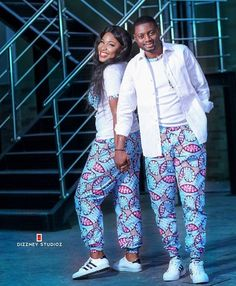 Ankara Trousers 2020 : No Matter Body's Type & Size - Pretty 4 Couples African Outfits, Couple Outfits, African Attire, African Wear, African Women, African Dress, African Fashion Designers, African Print Fashion, Africa Fashion