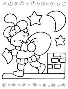 Sinterklaas is Jarig - Kleurplaat