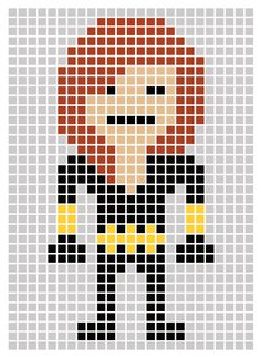 Avengers Pixel Art Template Black widow