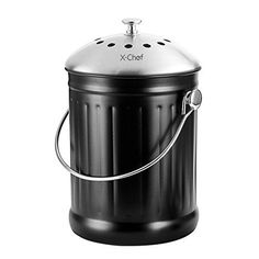 My favorite bin for collecting organic scrapes for composting. This is an environmentally friendly and frugal way to fertilize your garden. AD Compost Bin, X-Chef Stainless Steel Cast Iron Kitchen Com... https://www.amazon.com/dp/B014R3WPJY/ref=cm_sw_r_pi_dp_x_jDMWxbHE8D8CR