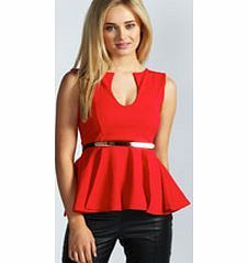 boohoo Claire Notch Neck Belted Peplum Top - red azz48531 Fashions most figure flattering shape, this polished peplum top is the perfect power dressing piece. Look cocktail-ready in PU trousers , classic court heels and an embellished clutch . http://www.comparestoreprices.co.uk/womens-clothes/boohoo-claire-notch-neck-belted-peplum-top--red-azz48531.asp