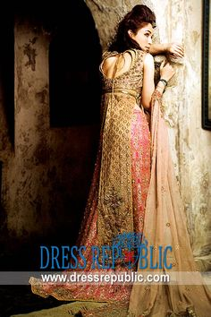 Pink Gold Montova, Product code: DR2014, by www.dressrepublic.com - Keywords: Pakistani Bridal Dresses Virginia, Indian Bridal Dresses Boutiques VA
