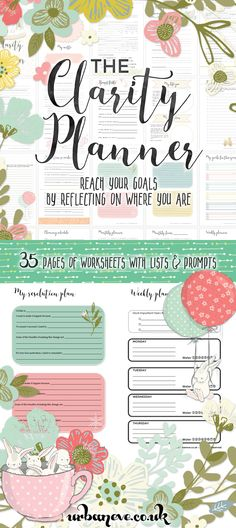 Free Printable: The Clarity Planner - reach your goals by reflecting on where you are - urban:eve {newsletter subscription required}