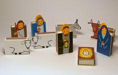 Presépios criativos - presépios de caixas de fósforos