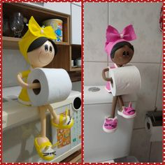 toilet paper holder dolls cute as a button Toliet Paper Holder, Toilet Roll Holder, Toilet Paper, Clay Flower Pots, Clay Pots, Fabric Doll Pattern, Fabric Dolls, Clay Pot Crafts, Diy And Crafts