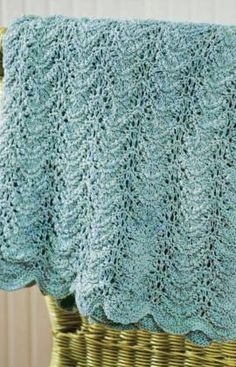 'wave' pattern for baby blanket and  more free patterns