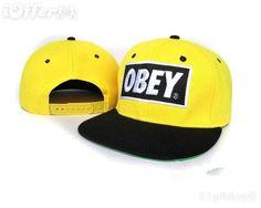 yellow obey snapback