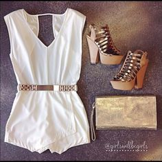Cute White Summer Romper