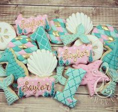 Mermaid Tails & Sea Horse Cookies
